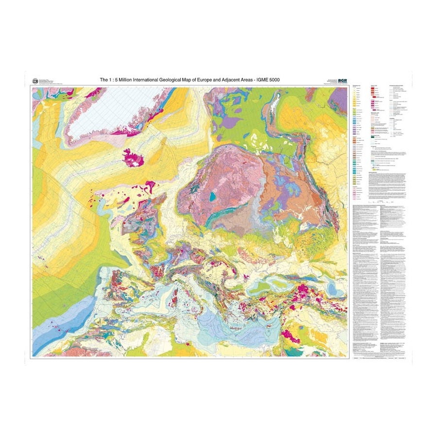 international geological map of europe at 1 5 000 000 ccgm cgmw