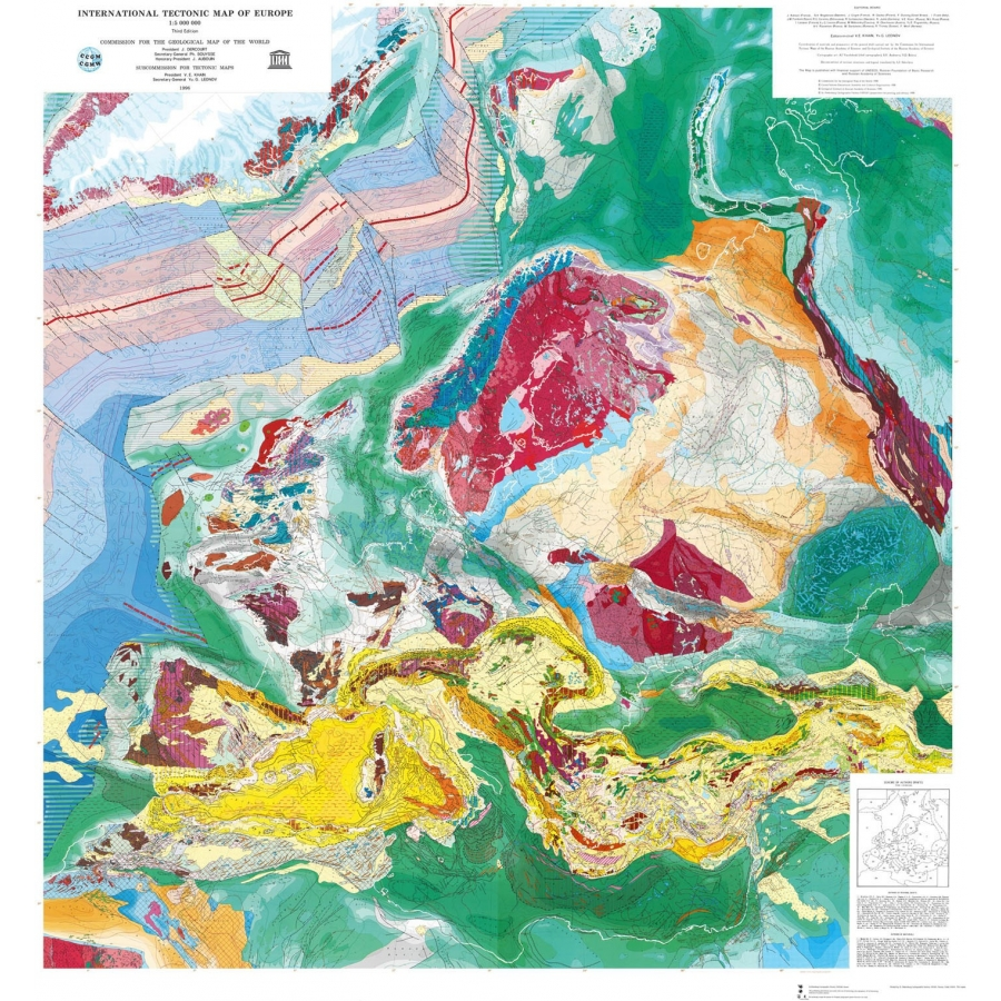 International tectonic map of europe ccgm cgmw categories maps gumiabroncs Choice Image