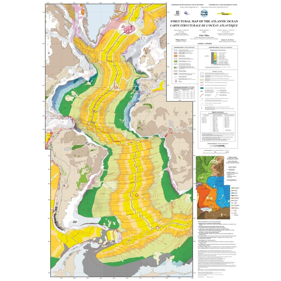 Structural Map Of The Atlantic Ocean Ccgm Cgmw