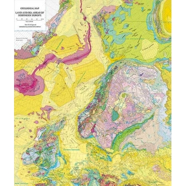Geological Map Of Land And Sea Areas Of Northern Europe Ccgm Cgmw