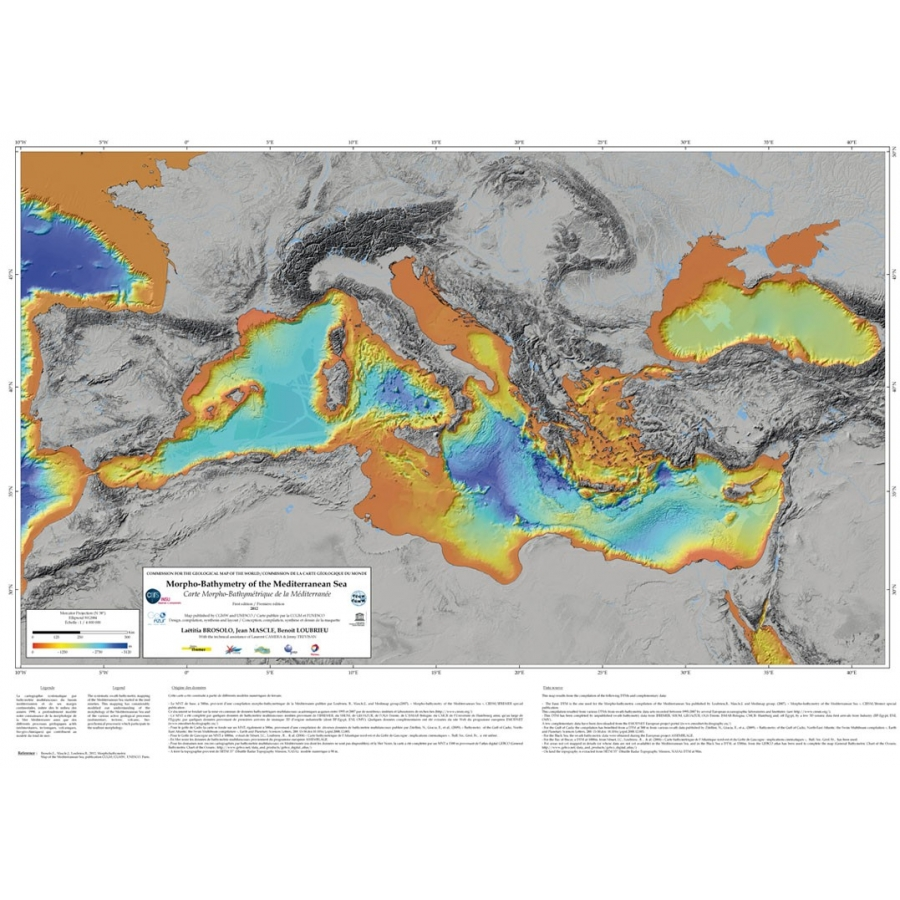 Morpho-bathymetry Of The Mediterranean Sea