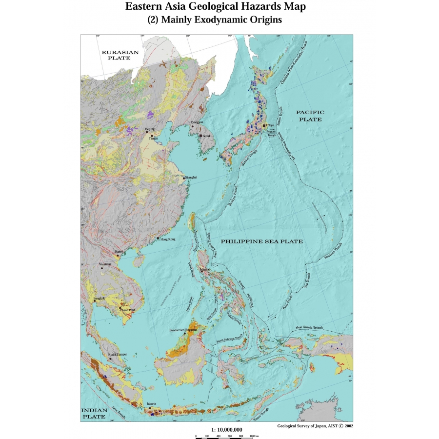 Eastern Asia Geological hazards map - CCGM - CGMW on bangladesh map, religion map, portugal map, nature map, afrique map, africa map, voyage map, europe map, iran map,