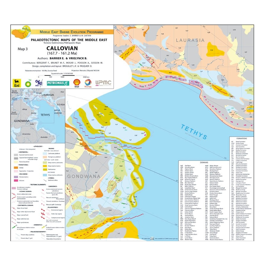 Atlas of Paleotectonic Maps of the Middle East MEBE Program