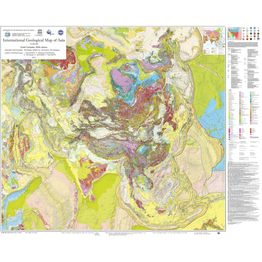 International Geological Map of Asia at 1:5 M (IGMA) - CCGM ... on bangladesh map, religion map, portugal map, nature map, afrique map, africa map, voyage map, europe map, iran map,