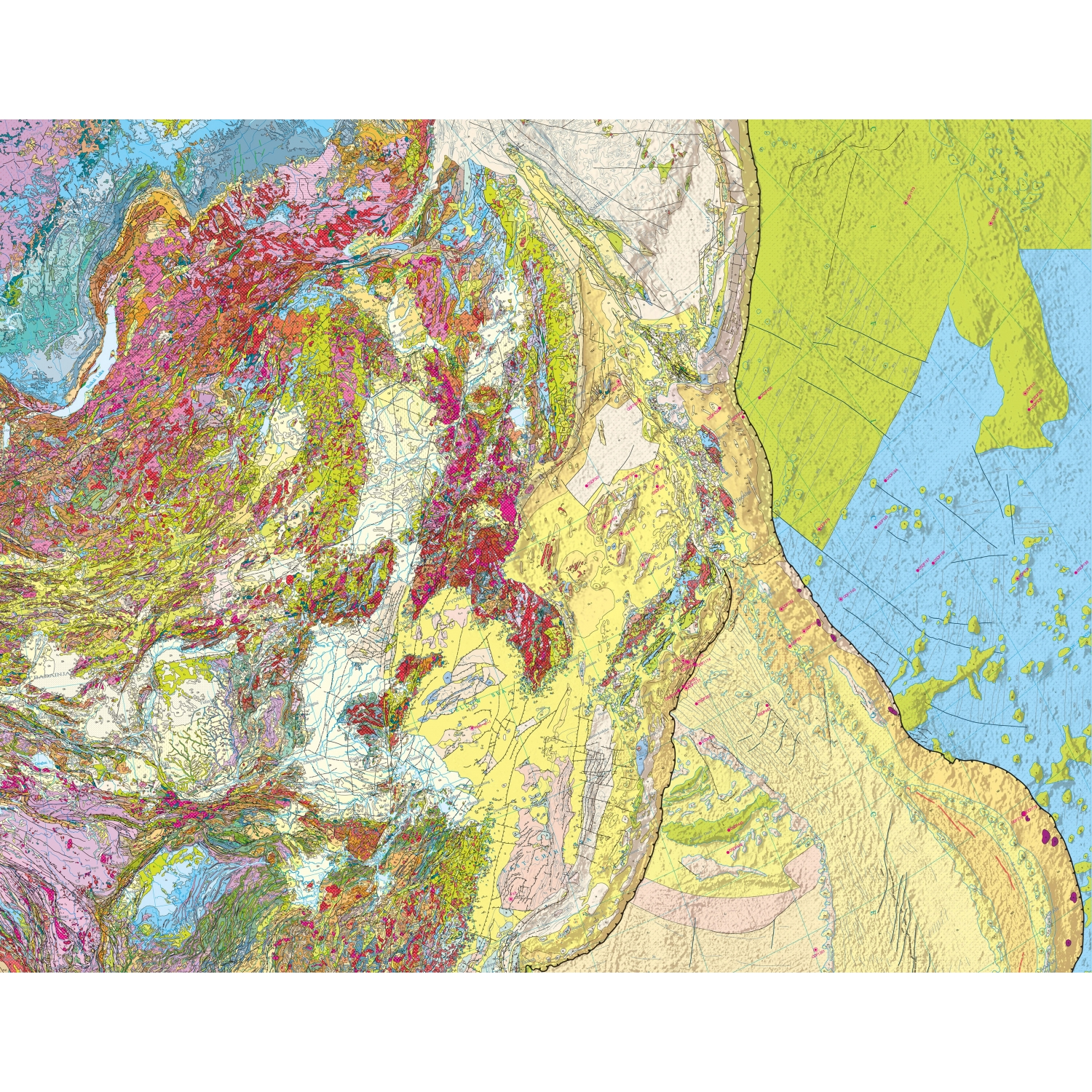Atlas Map Of Asia.International Geological Map Of Asia At 1 5 M Igma Ccgm Cgmw