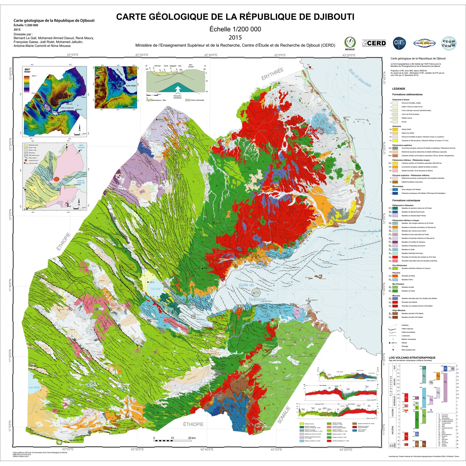 Geological Map Of The Republic Of Djibouti CCGM CGMW - Republic of djibouti map