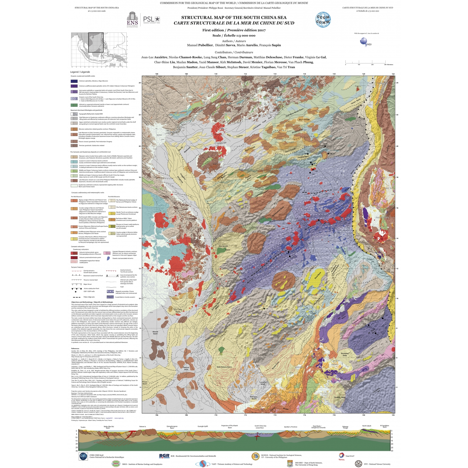 Structural map of the south china sea ccgm cgmw share on facebook gumiabroncs Images