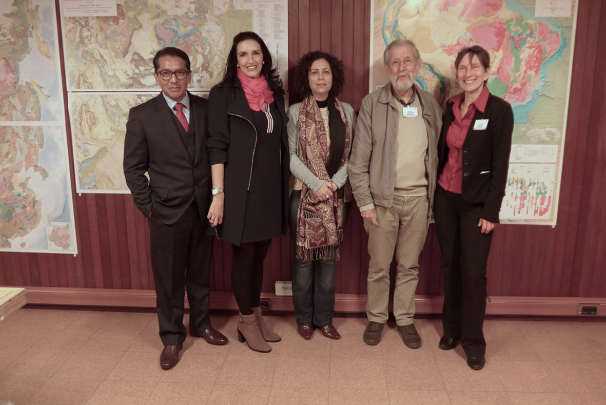 Representatives of the South American Subcommission and Dr. K. Asch, CGMW Vice-President for Europe